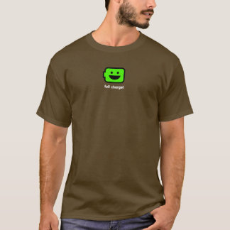 T-shirt Batterie androïde heureuse