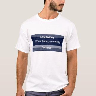 T-shirt Batterie d'Iphone basse