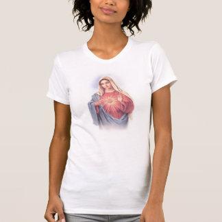 T-shirt Batteur sacré de garçon de coeur de Mary