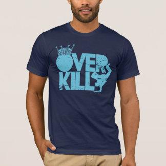 T-shirt bboy - au-dessus de la mise à mort (bleu affligé)