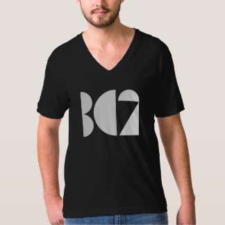 T-shirt BC2 enregistre logo de pièce en t de V-cou le
