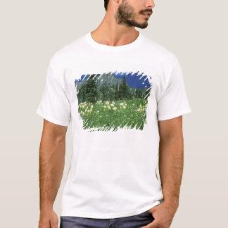 T-shirt Beargrass au lac Eunice, le mont Rainier NP, WA,