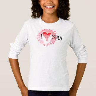 T-shirt Beau coeur d'I vous chemise de douille de la