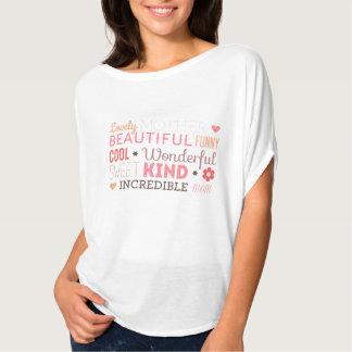 T-shirt Beau dessus incroyable de cercle du jour de mère