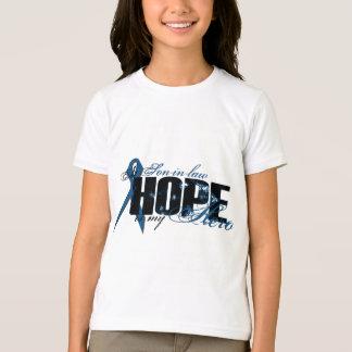 T-shirt Beau-fils mon héros - espoir de cancer du colon