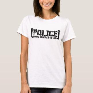 T-shirt Beau-frère fier - POLICE déchirée en lambeaux