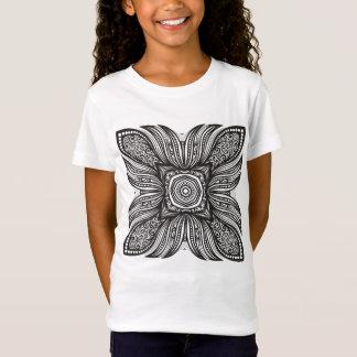 T-Shirt Beau griffonnage de carré de décor