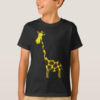 T-shirt beau heureux de bébé de girafe de joie animale