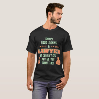 T-shirt beau intelligent de profession d'avocat