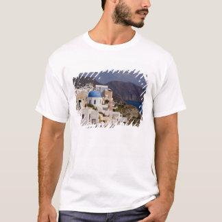 T-shirt Beau village d'Oia avec les bâtiments blancs