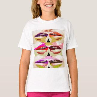 T-shirt Beaux-arts sensuels colorés de lèvres