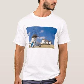 T-shirt Beaux moulins à vent sur l'île de Mykonos,