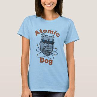 T-shirt Bébé atomique de dames de chien - bleu de poupée