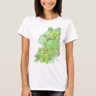 T-shirt Bébé d'art d'imaginaire - poupée T - le Faery vert