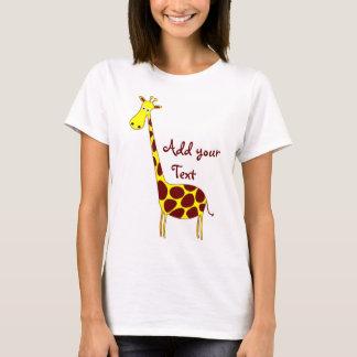 T-shirt Bébé de dames de girafe - poupée (adaptée)