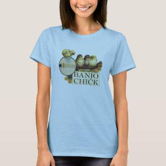 T-shirt Bébé de dames de poussin de banjo - poupée