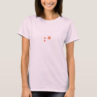 T-shirt : * Bébé de dames d'émoticône de baiser (smiley) -
