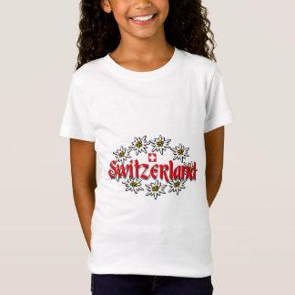 T-Shirt Bébé d'edelweiss de la Suisse - poupée