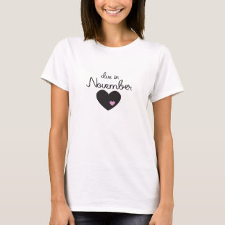 T-shirt Bébé dû en novembre
