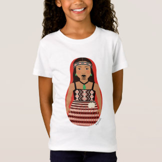 T-Shirt Bébé maori de filles de Matryoshka de danseur -