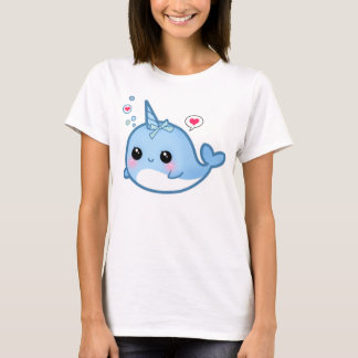 T-shirt Bébé mignon de kawaii narwhal