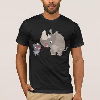 T-shirt Bébé mignon de rhinocéros de bande dessinée et