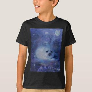 T-shirt Bébé phoque sur la glace - beau paysage marin