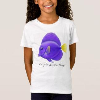 T-Shirt Bébé pourpre de filles de Sailfin Tang - dessus de