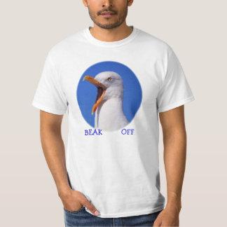 T-shirt Bec de mouette outre de bâillon drôle