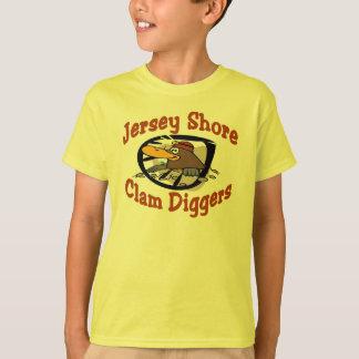 T-shirt Bêcheurs de palourde de rivage du Jersey