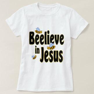 T-shirt Beelieve en noir de Jésus