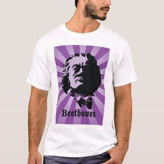 T-shirt Beethoven sur le pourpre