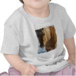 T-shirt belge de bébé de cheval de trait