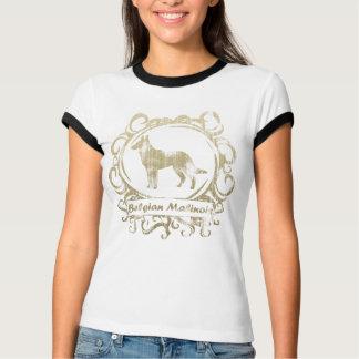 T-shirt Belge patiné chic Malinois