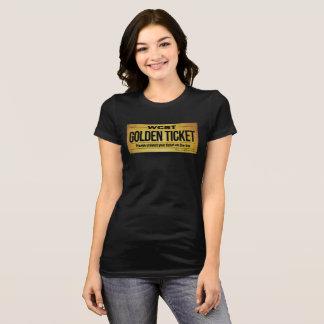 T-shirt Bella des femmes D'OR de BILLET de WCST+Pièce en t