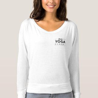 T-shirt Bella des femmes+Douille de Flowy de toile longue