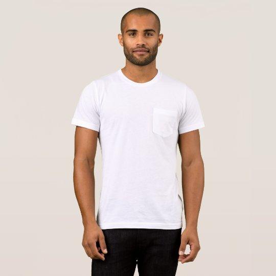 T-shirt avec poche Bella+Canvas, Blanc/Blanc