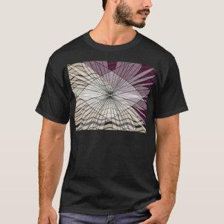T-shirt belle conception pourpre de motif
