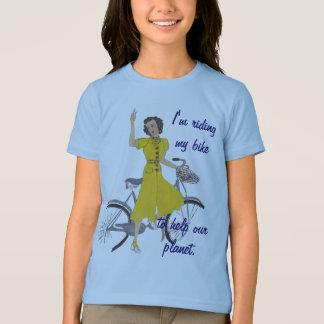 T-shirt belle dame de bicyclette