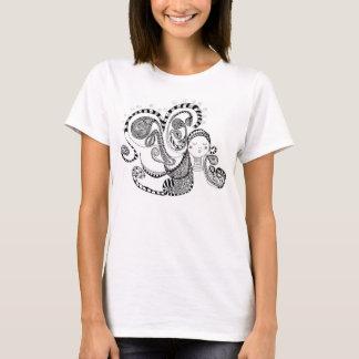 T-shirt Belle hippie de fille de conception d'art