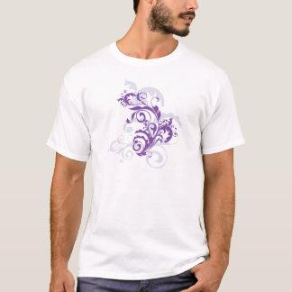 T-shirt Belle vigne florale assez pourpre de remous sur le