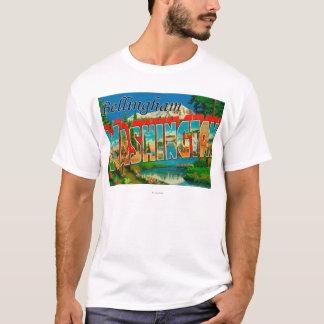T-shirt Bellingham, Washington - grandes scènes de lettre