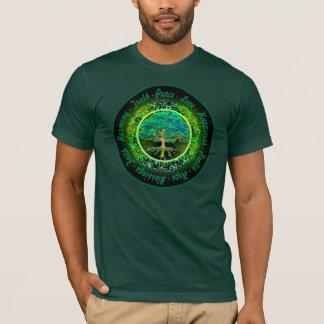 T-shirt Bénédictions, foi, arbre d'harmonie de la vie en