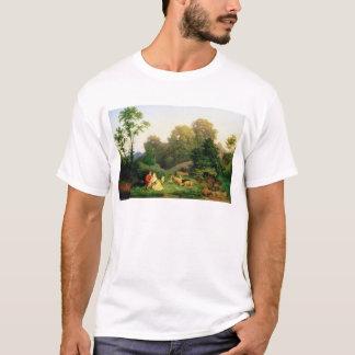 T-shirt Berger et bergère dans un paysage allemand