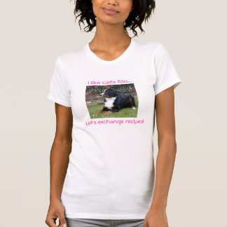 T-shirt Bernese qui aime des chats