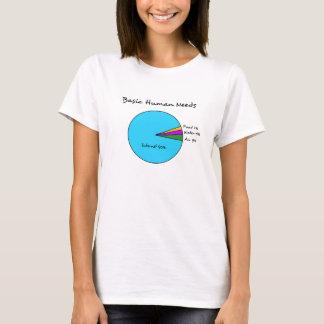 T-shirt Besoins de base drôles d'humain d'enthousiastes