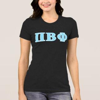 T-shirt Bêtas lettres de bleu de phi de pi
