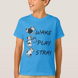 T-shirt BÊTE PERDUE de JEU de SILLAGE de Jack Russell