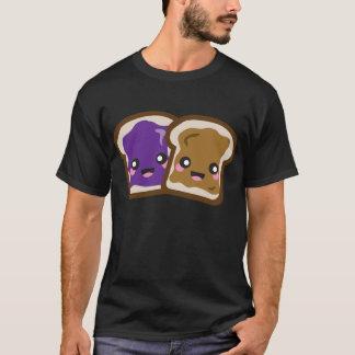 T-shirt Beurre d'arachide de Kawaii et chemise de gelée