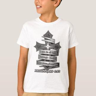 T-shirt Bible de chrétien de 4h13 de Philippiens d'édition